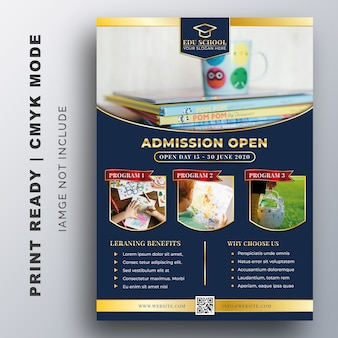 Back to shool flyer creative design template