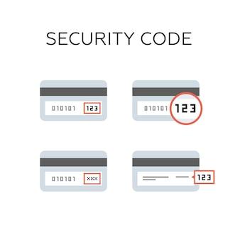 Cvv 보안 코드가있는 신용 카드 뒷면