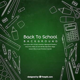 学校の背景に戻って、黒板のスタイルで