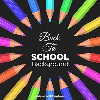 Снова в школу с цветными карандашами