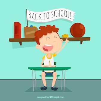Снова в школу с счастливым студентом