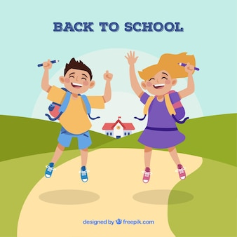 Снова в школу с радостными детьми
