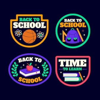 学校に戻るバッジコレクション