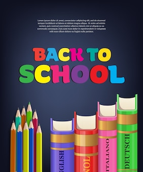 Back to school brochure with books