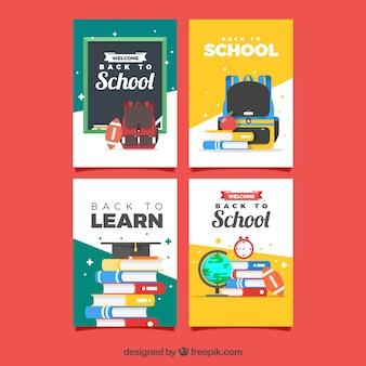 フラットデザインの学校カードコレクションに戻る