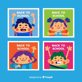 Back to school card collection