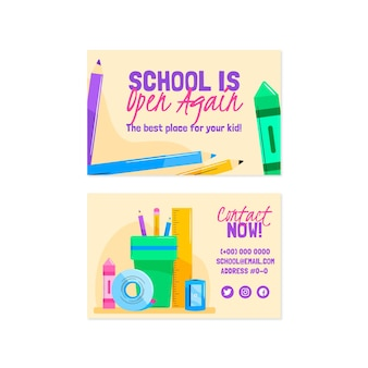 학교 카드 템플릿으로 돌아가기