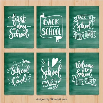 Back to school cards collection