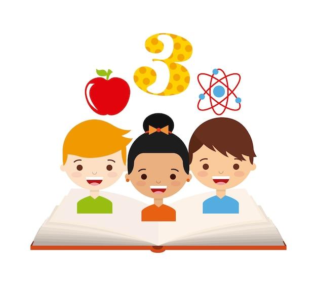 Назад к школьному дизайну, векторная иллюстрация eps10 graphic