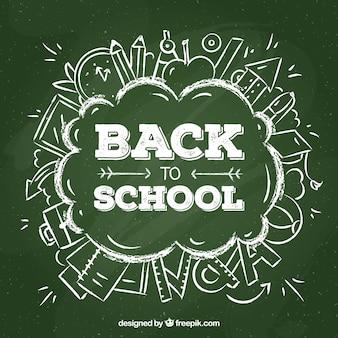 칠판 글자로 학교 디자인으로 돌아 가기