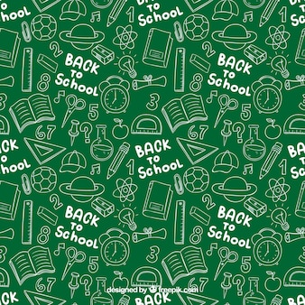 戻る学校の落書きパターンに