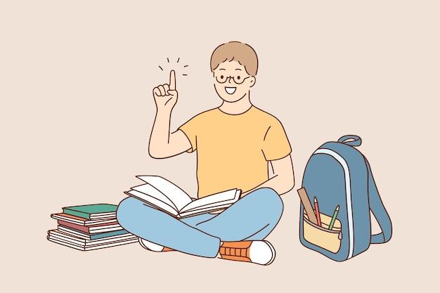 学校に戻る、教育、学習の概念