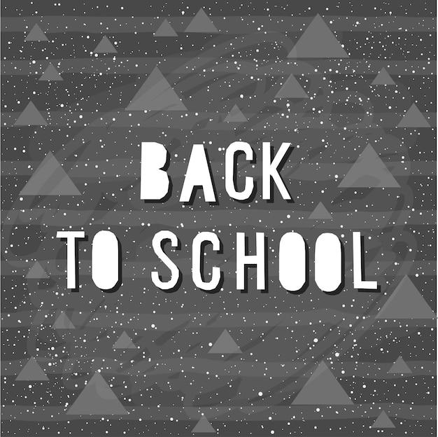 학교로 돌아가다. 디자인 카드, 학교 포스터, 유치한 티셔츠, 가을 배너, 스크랩북, 앨범, 학교 벽지 등을 위한 교실 칠판에 손으로 그린 글자와 삼각형 및 선 요소