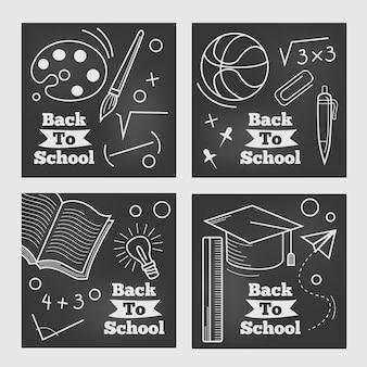 学校に戻るinstagramポスト黒板デザイン