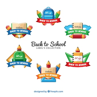 Back to school label collection