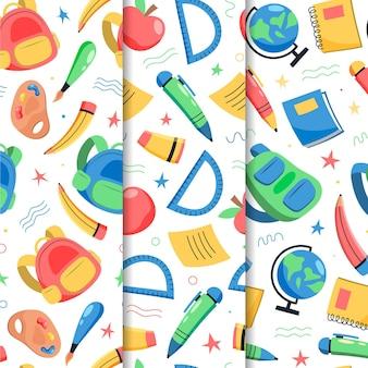 学校に戻るパターンコレクション