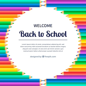 Back to school pencil background