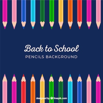 Вернуться в школу карандаш фон