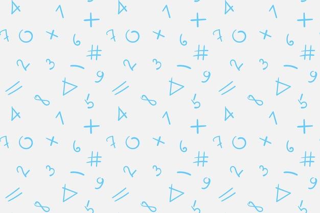 Обратно в школу бесшовные модели с числами на белом фоне. векторная иллюстрация.