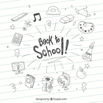 Back to school sketches background