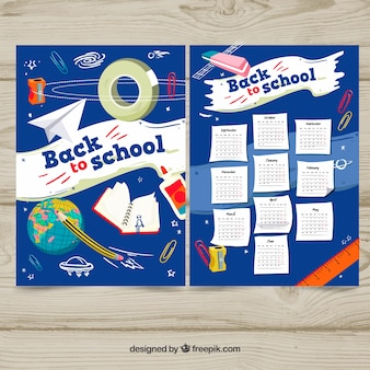 Back to school space calendar