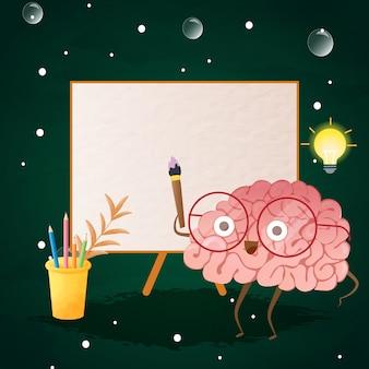 Вернувшись в школу, мозг пытается что-то нарисовать.