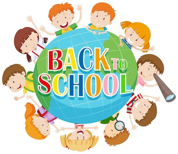 전세계 아이들과 함께 학교 테마로 돌아 가기