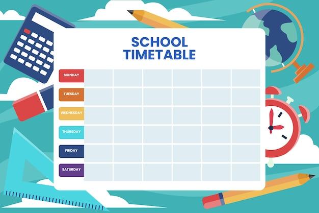 학교 시간표 개념으로 돌아 가기