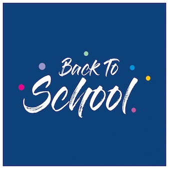 Back to school typography with blue background