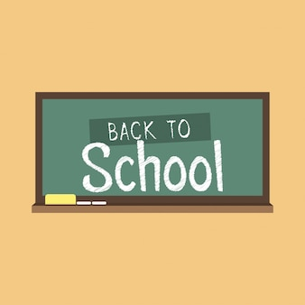Back to school typography with creative design vector