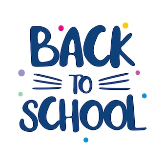 Back to school typography with white background and creative design