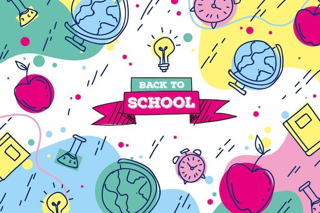 学校の壁紙に戻る描画テーマ