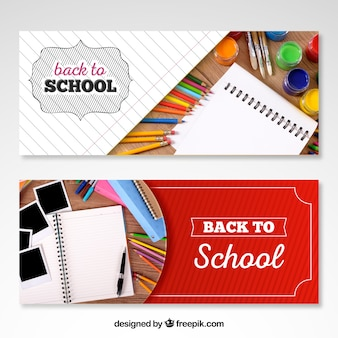 Back to school web banners with space for image