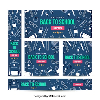 Back to school web banners