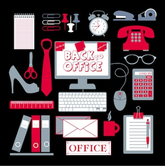 Officeの設定抽象的な背景