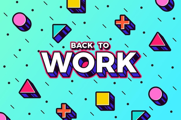 Вернуться к работе - фон мемфиса