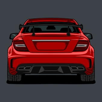 Back view car illustration