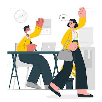 Torna all'illustrazione del concetto di lavoro