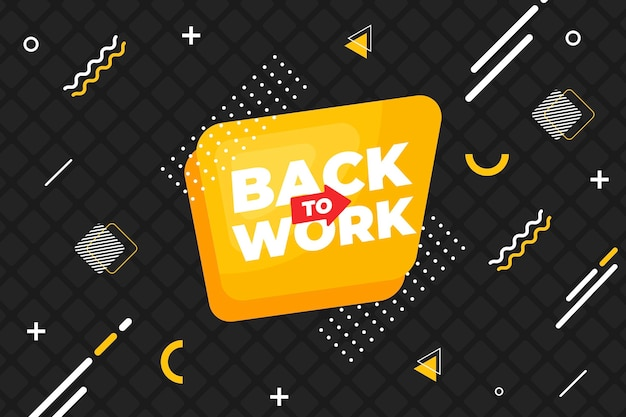 Back to work memphis background