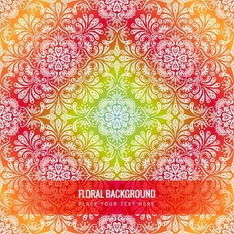Красный цветочный backfround