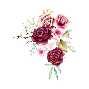 Акварельный букет роз backfround