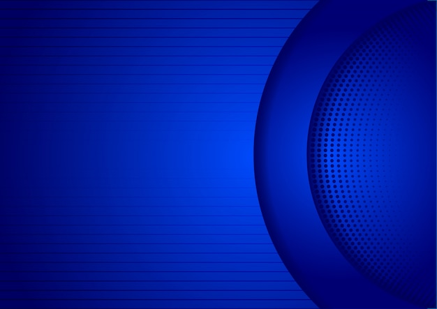 抽象的なブルーbackgorundデザイン技術の影