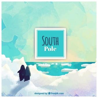 Ручная роспись южный полюс backgroun