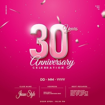 배경 30 주년 축하 초대장
