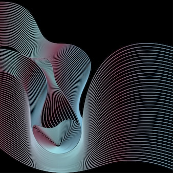 Background abstrac vector wave line