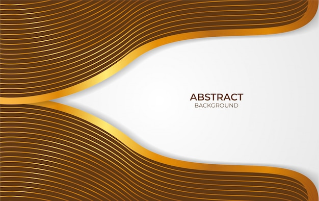 Background abstract brown and gold design