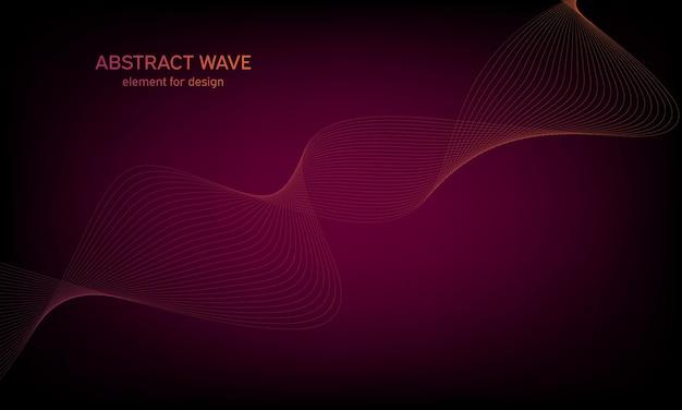 Фон абстрактный красочный элемент волны