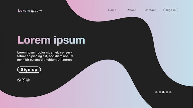 Background abstract cotton candy curve for homepage