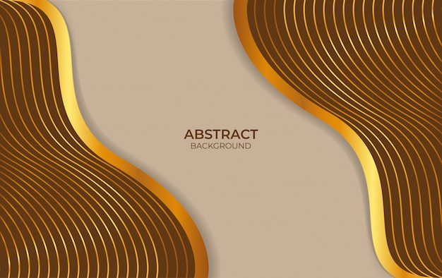 Background abstract design brown and gold