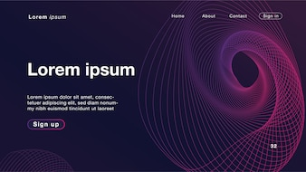 Background abstract dynamic linear waves purple light for Homepage